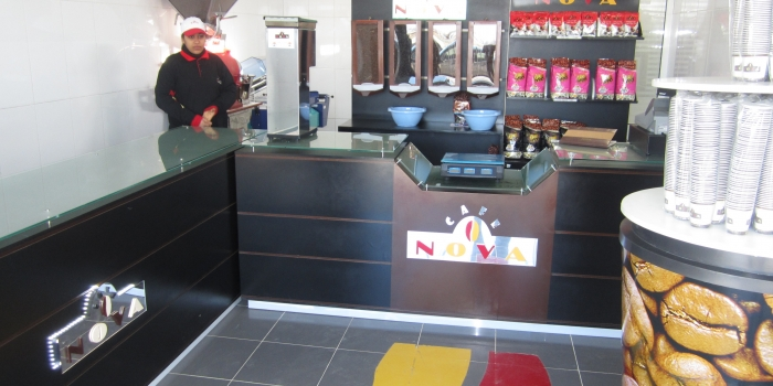 Aménagement Point de Vente NOVA CAFÉ – La Soukra