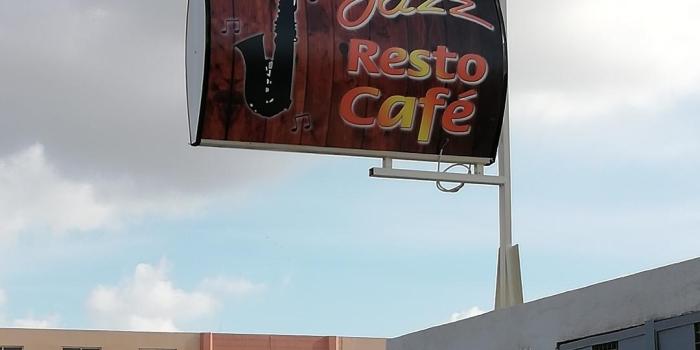 Drapeau Lumineux Café Jazz .