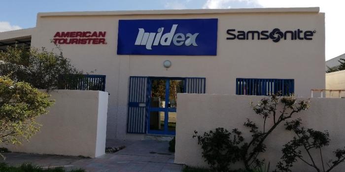 Enseigne MIDEX avec lettres boitiers en polystyrène découpe CNC